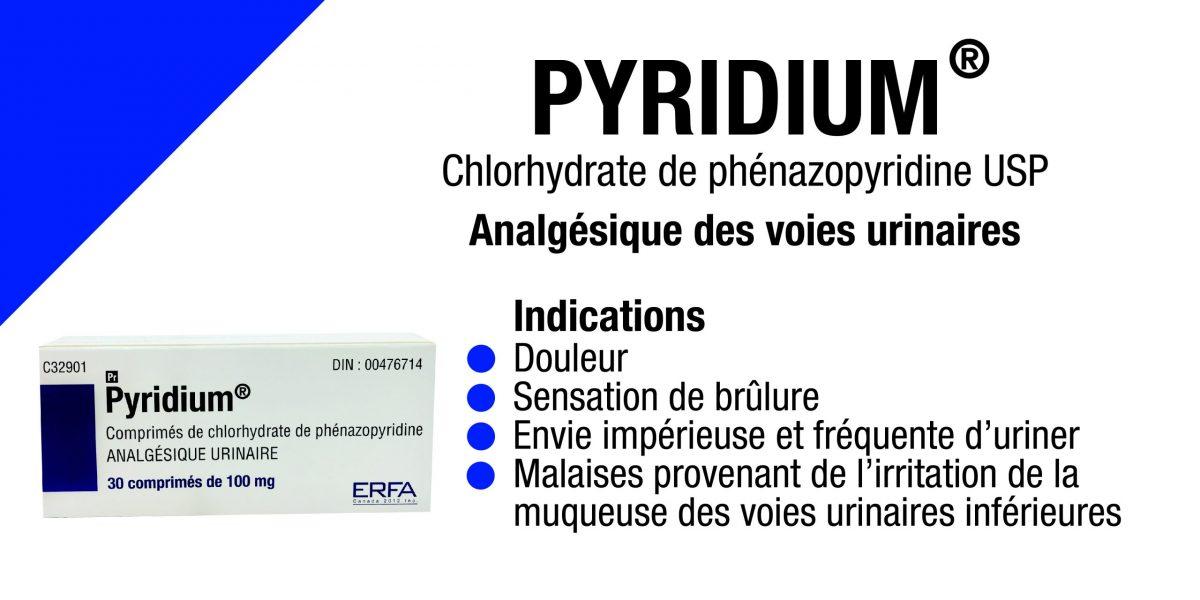Pyridium, analgésique urinaire, phénazopyridine